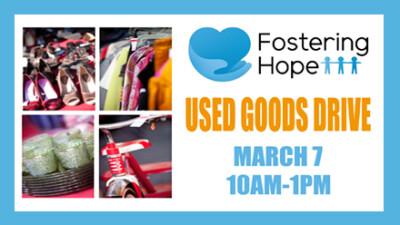 Fostering Hope Used Goods Drive