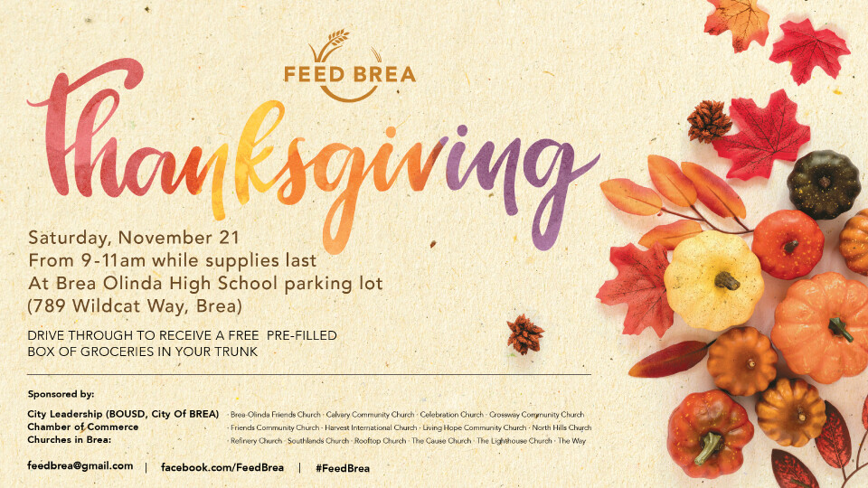 Feed Brea Thanksgiving